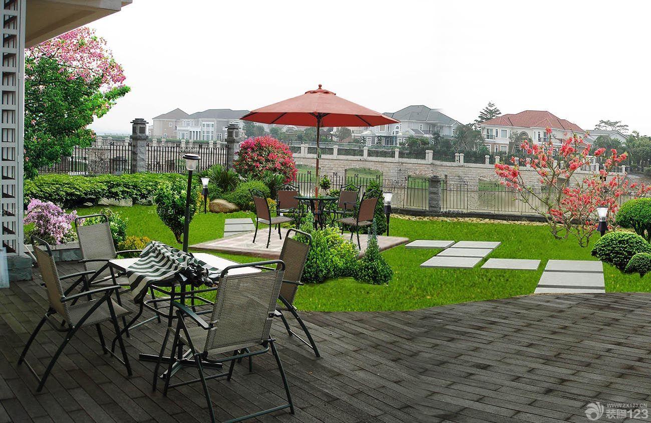 2015欧式别墅庭院花园设计效果图片大全