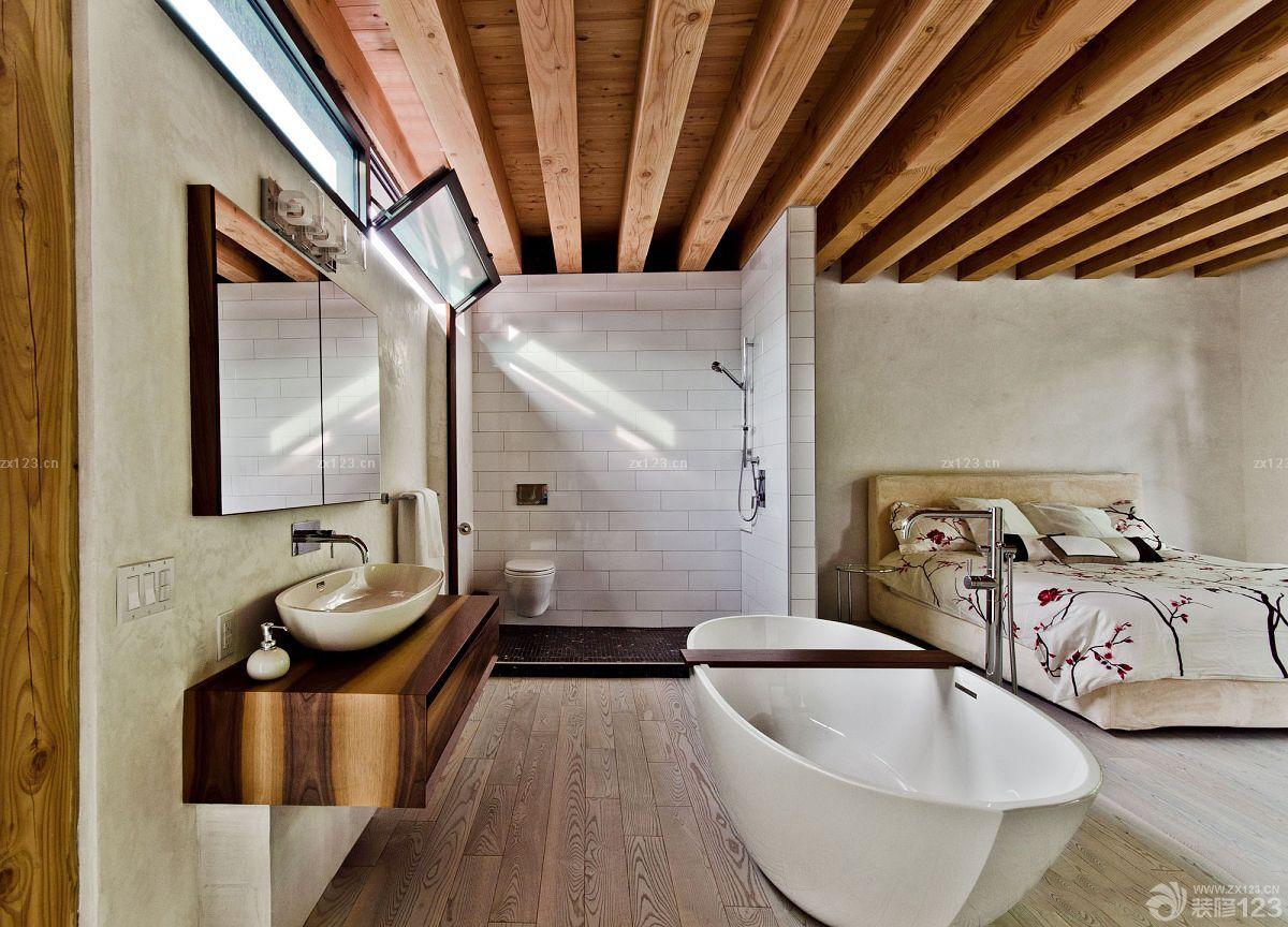 农村独立木屋别墅外观设计图片
