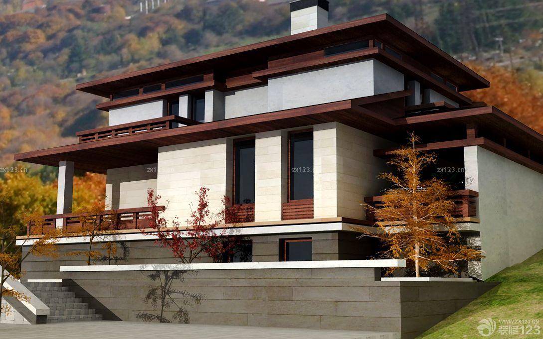 新中式独栋别墅外观装潢设计图片图片