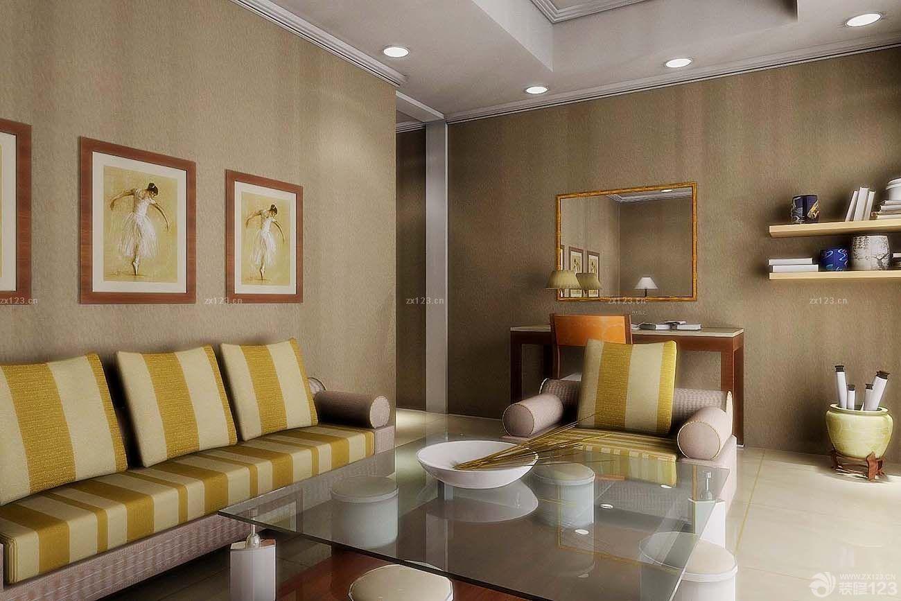 别墅欧式客厅沙发摆放装修效果图片
