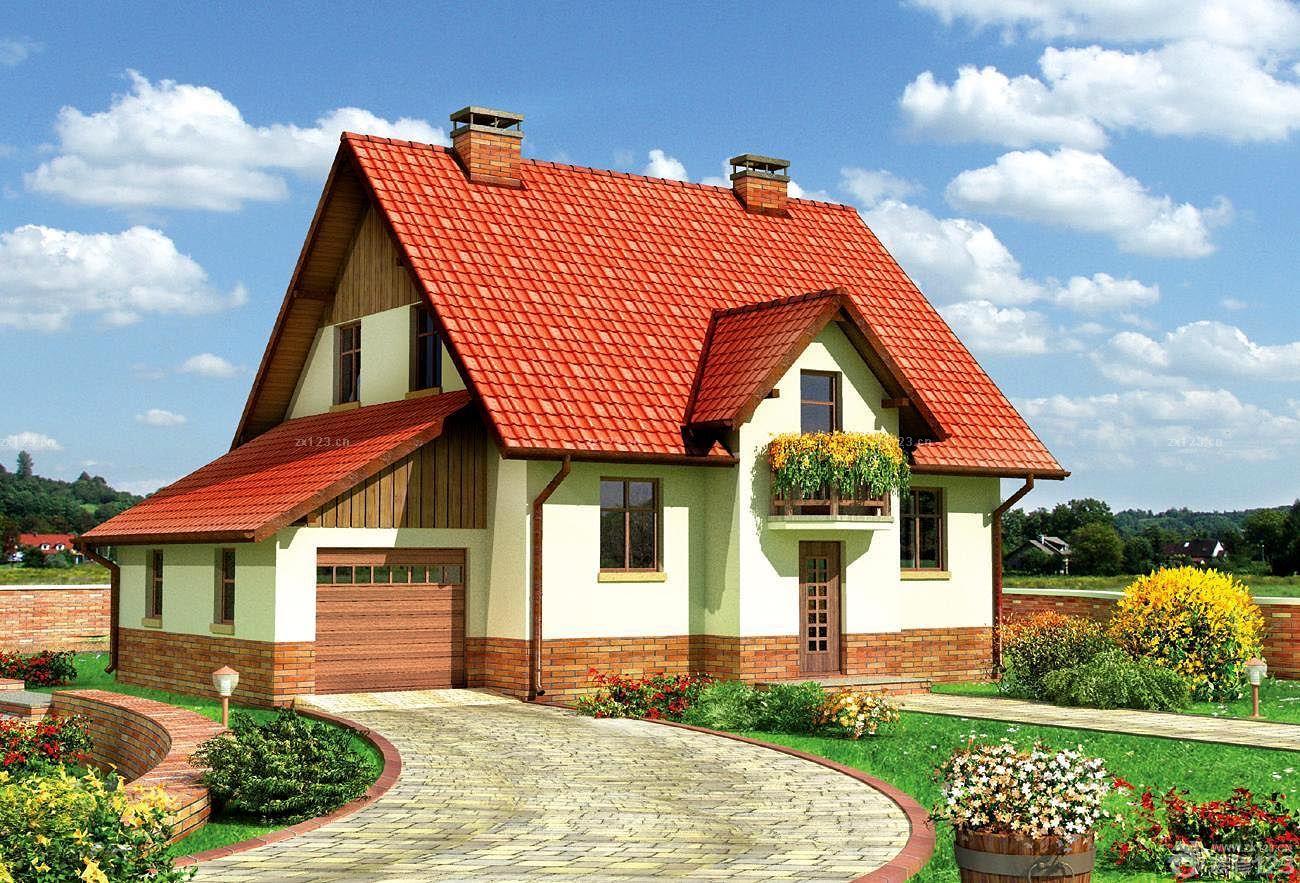 农村琉璃瓦屋顶效果图-华外国别墅装修效果图片