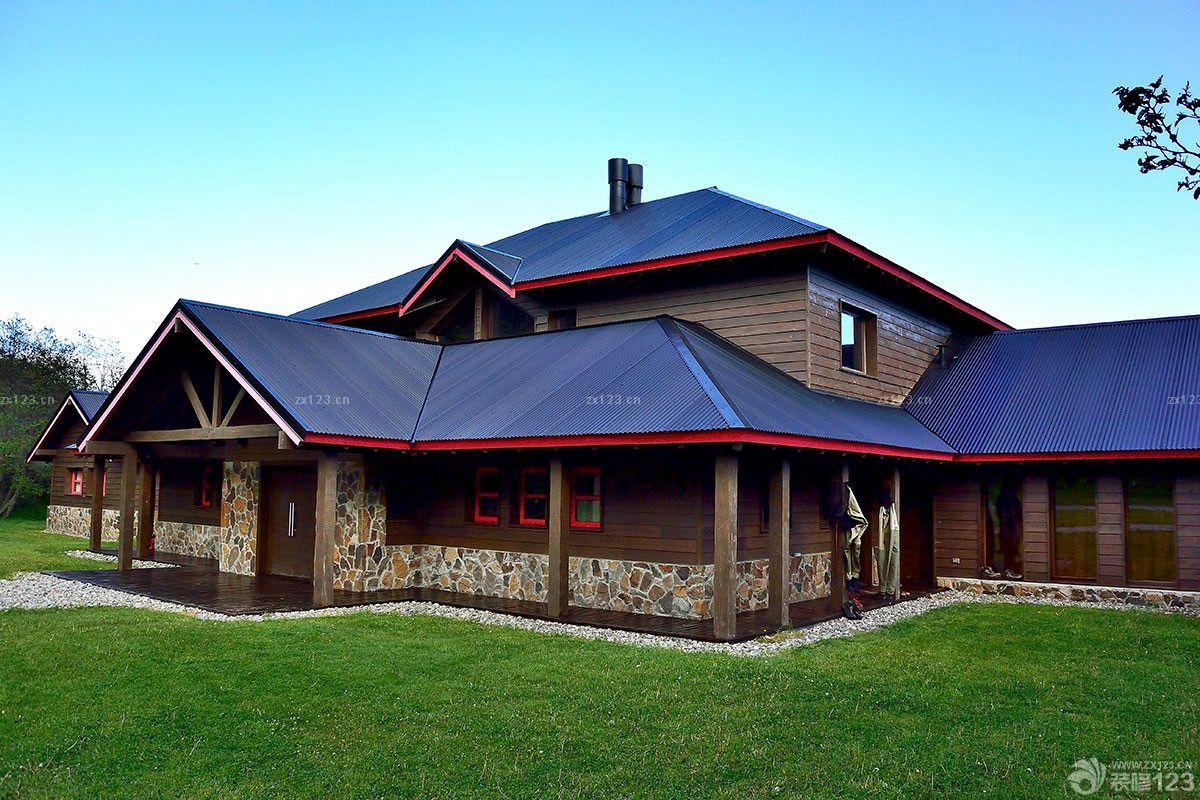 最新木屋别墅屋顶造型设计图片大全