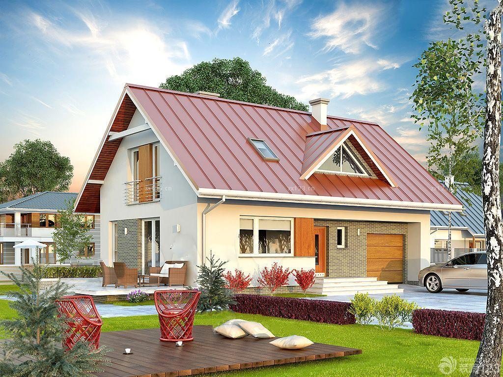 2015时尚农村木屋别墅外观造型设计图片大全