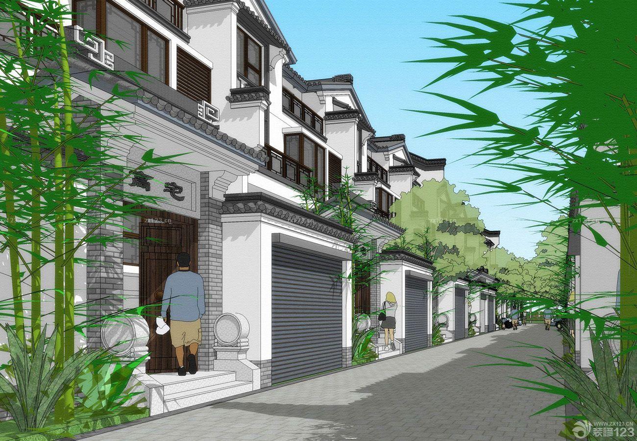 中式装修软件联排别墅风格设计图v软件简单别墅外观图片
