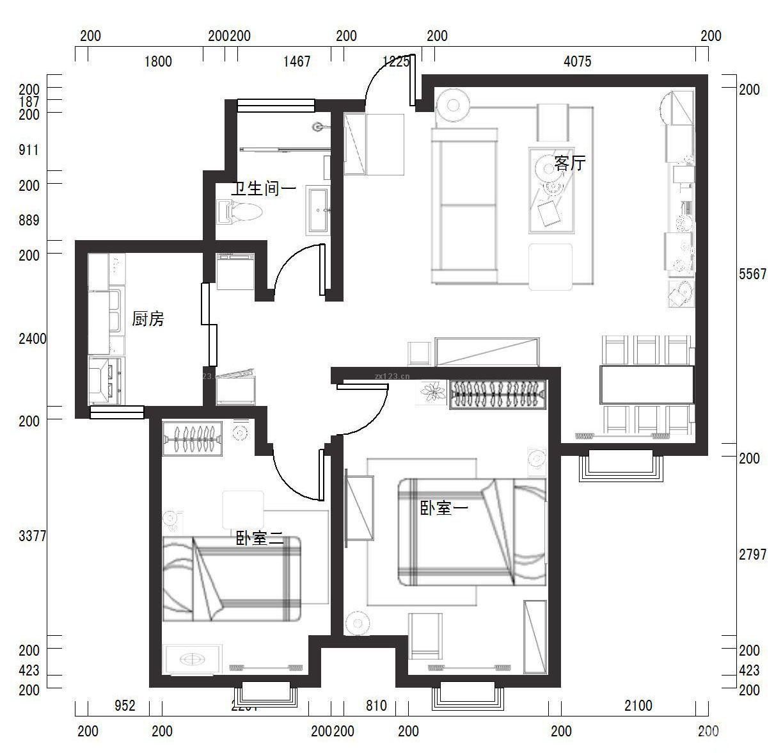 农村简易别墅平面设计图