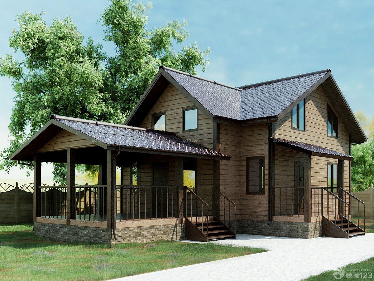 农村简易别墅小木屋装修图片