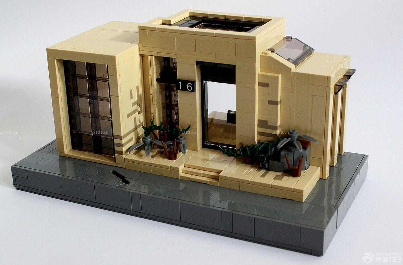 欧式农村小型别墅楼房模型设计图