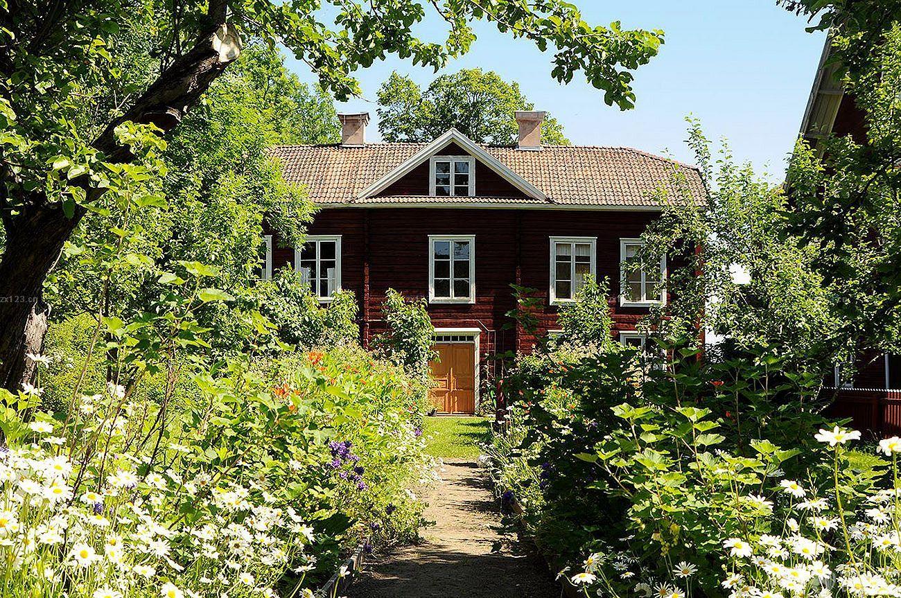 农村小户型别墅庭院花园最新设计图片大全2015