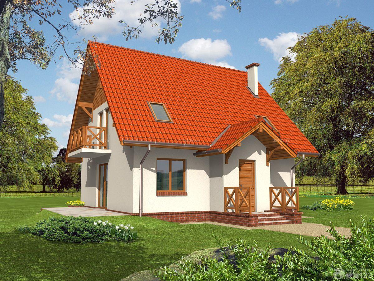 农村别墅小房子一层半装修效果图片