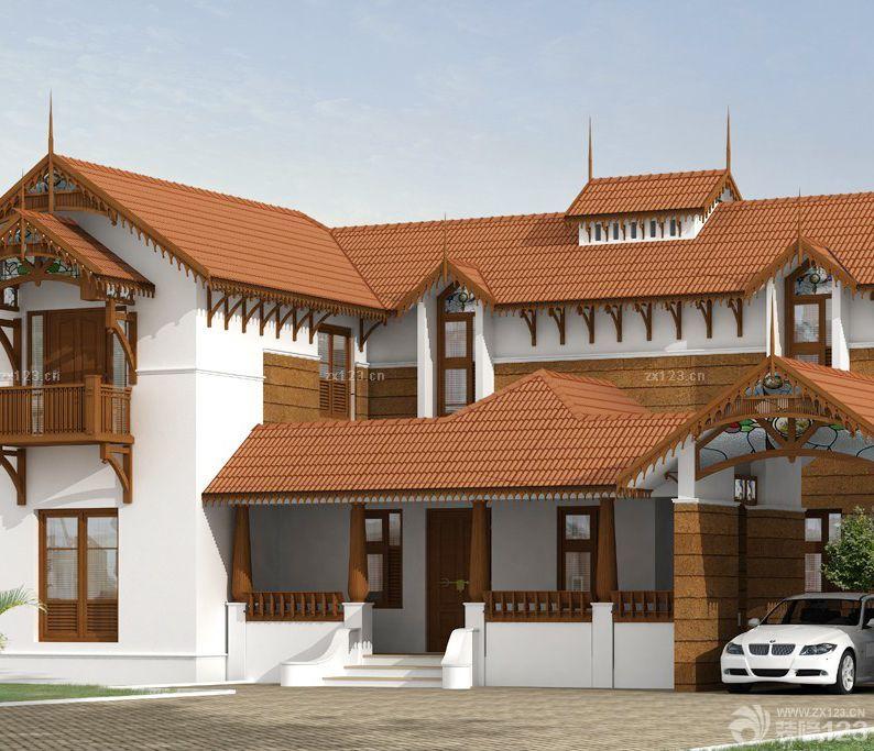 2015新农村2层别墅外观设计效果图欣赏