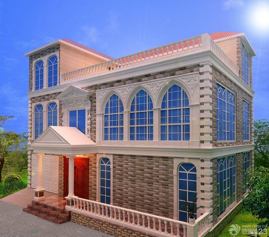 最新農村2層別墅外觀設計效果圖片
