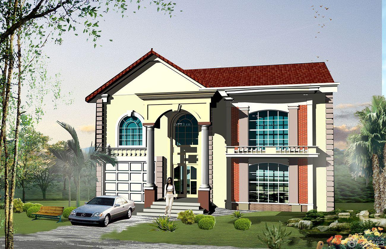 别墅外观设计图纸  设计理念:              白色墙面装修效果图片