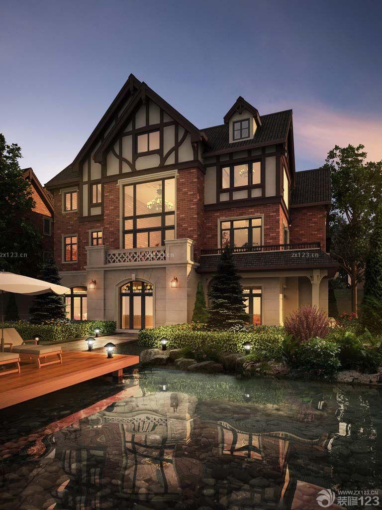 最新美式豪宅别墅室外装修图片大全