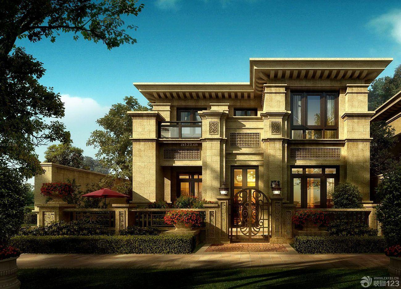 欧式古典风格豪宅别墅外观图片大全