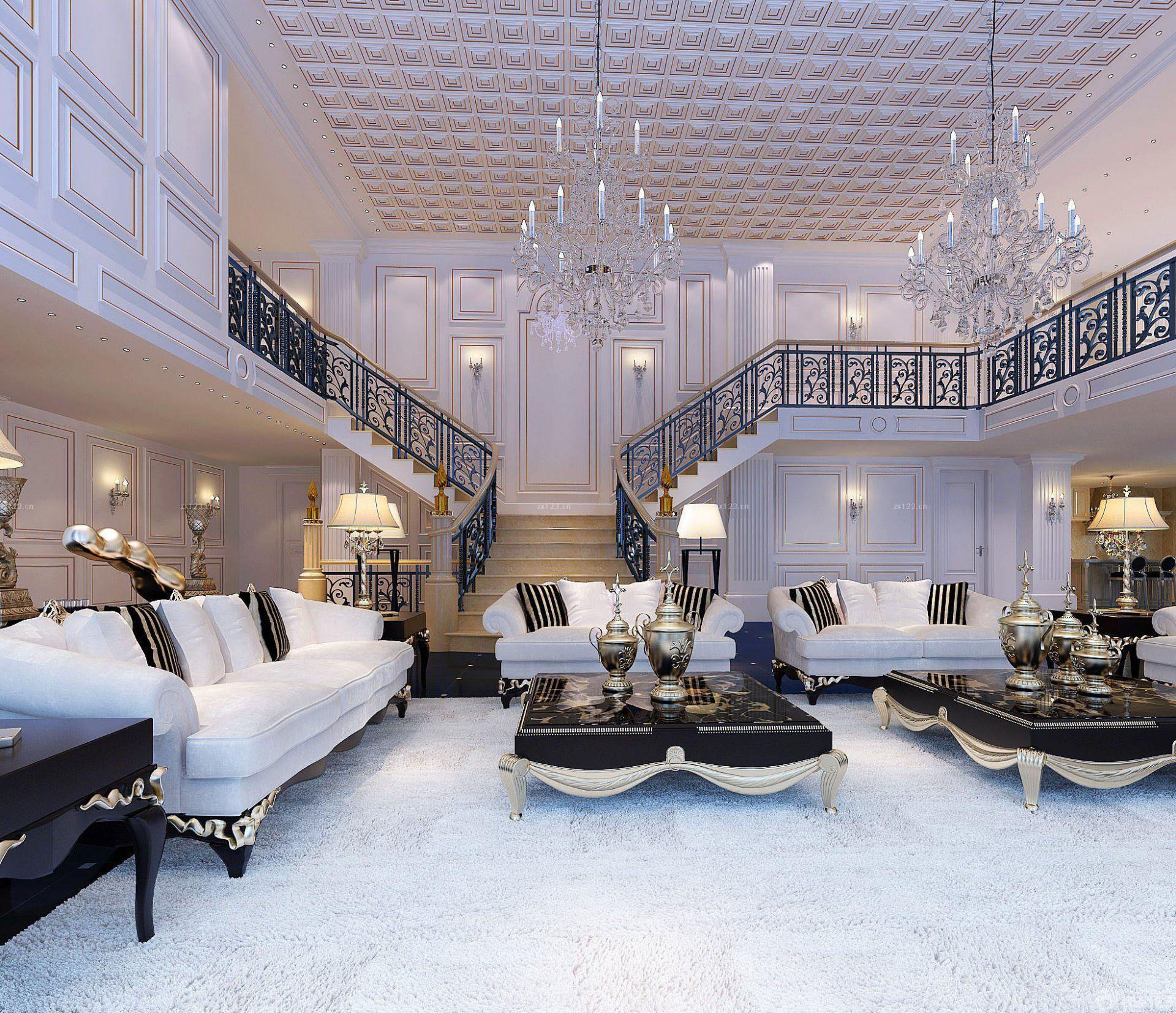 2015最新顶级别墅豪华客厅设计装修图片