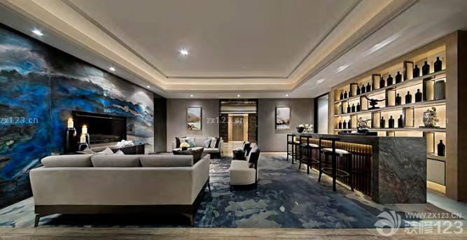 顶级别墅地下室娱乐设计图片 设计456装修效果图