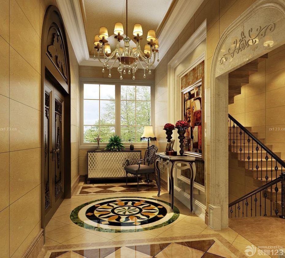 简约欧式风格别墅玄关设计效果图大全