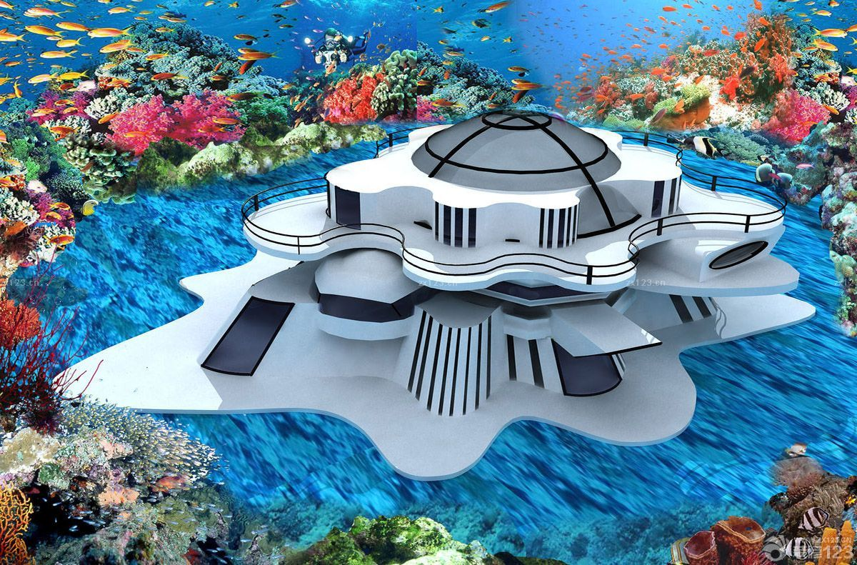 三层萨伏伊别墅模型外观效果图