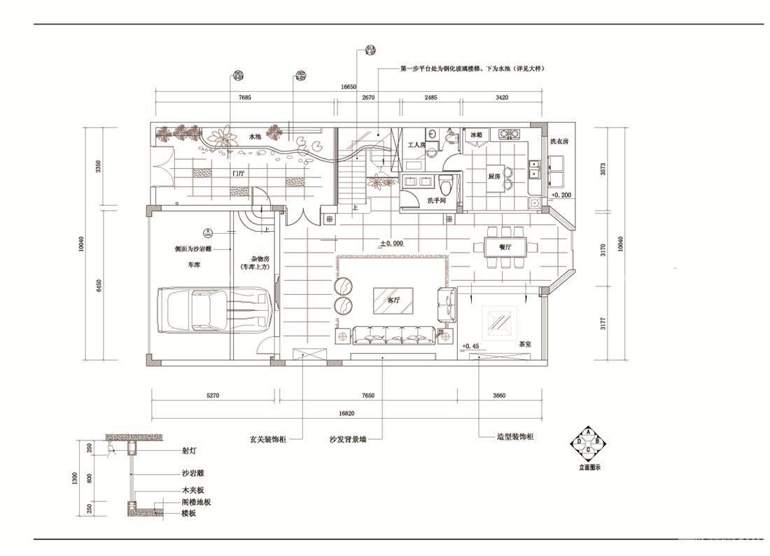 最新两层萨伏伊别墅设计总平面图
