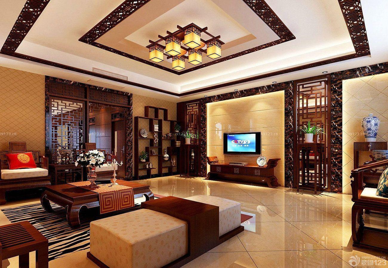 中式房子新古典装修客厅设计图片大全图片
