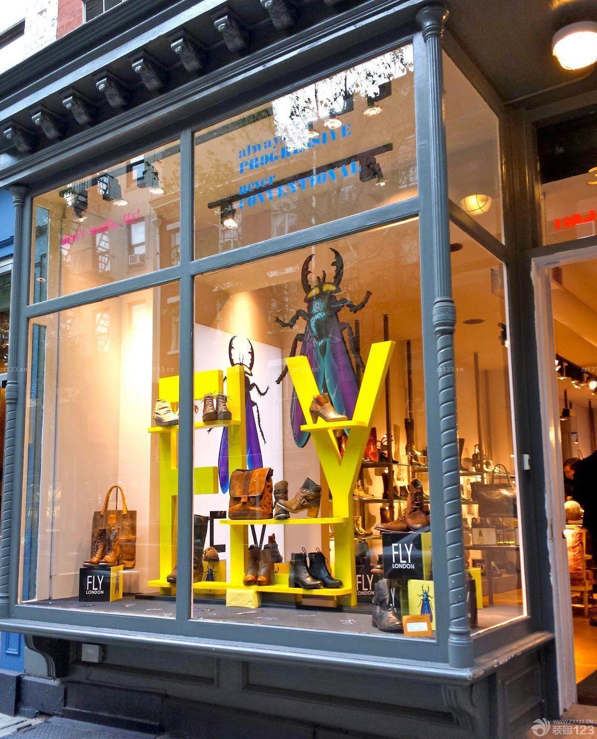 2018女鞋店橱窗设计装修效果图片 设计456装修效果图