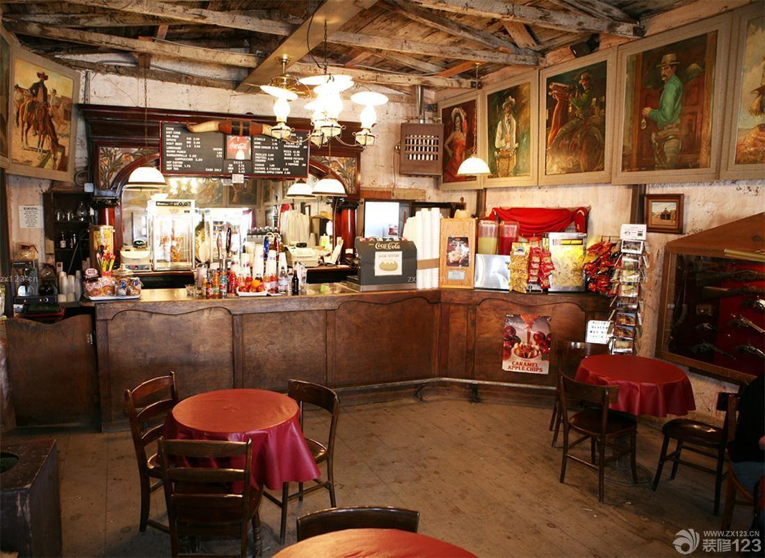 家居设计 乡村小酒吧装饰画装修效果  设计理念:              美式