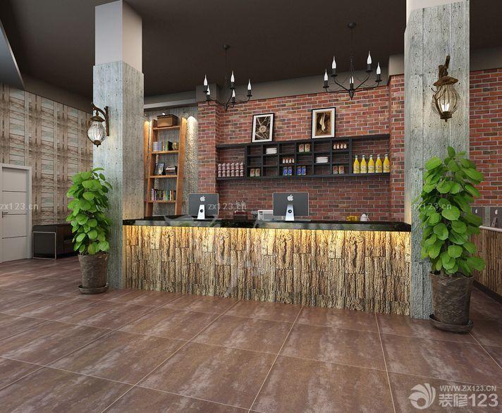 最新网吧收银台装修设计效果图片