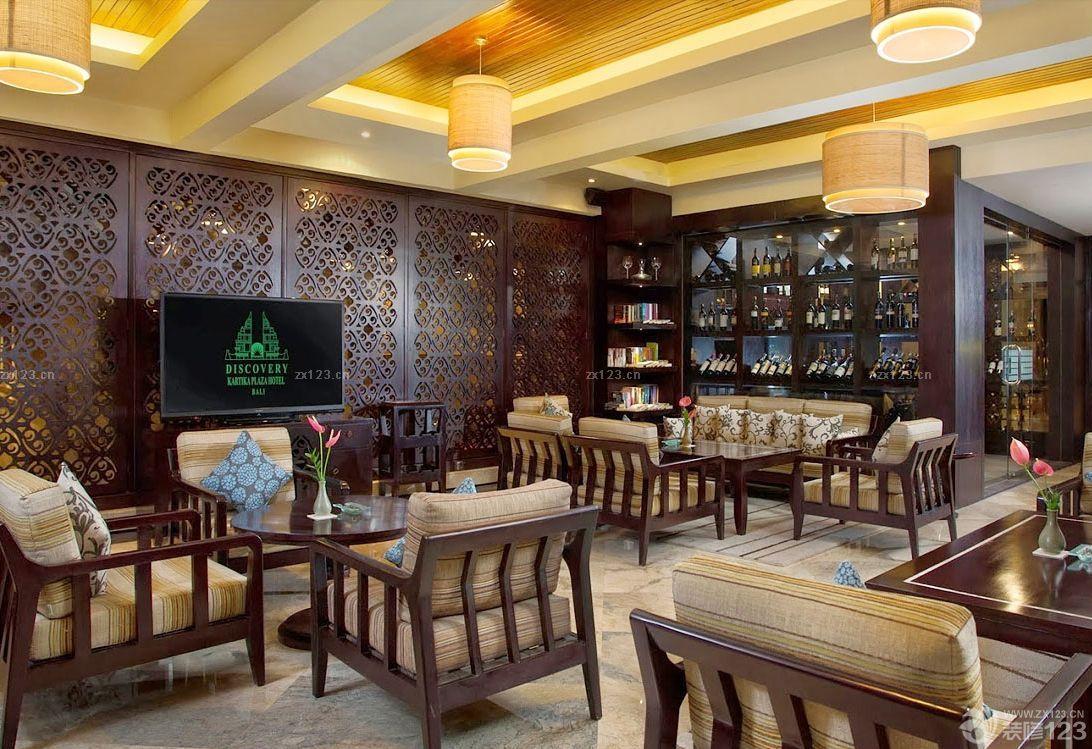 中式风格复古酒吧装修