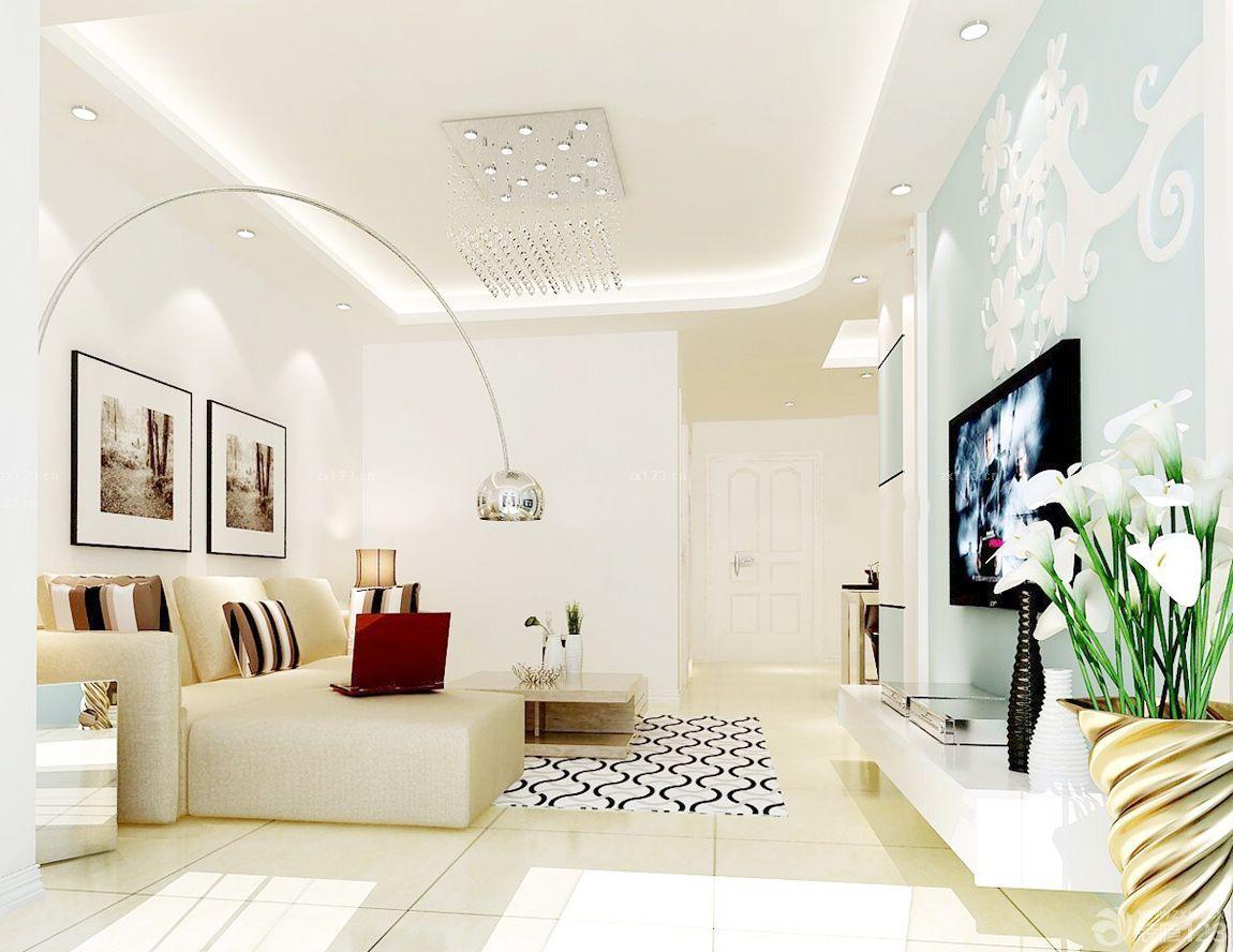 最新30平方客厅电视背景墙设计装修效果图