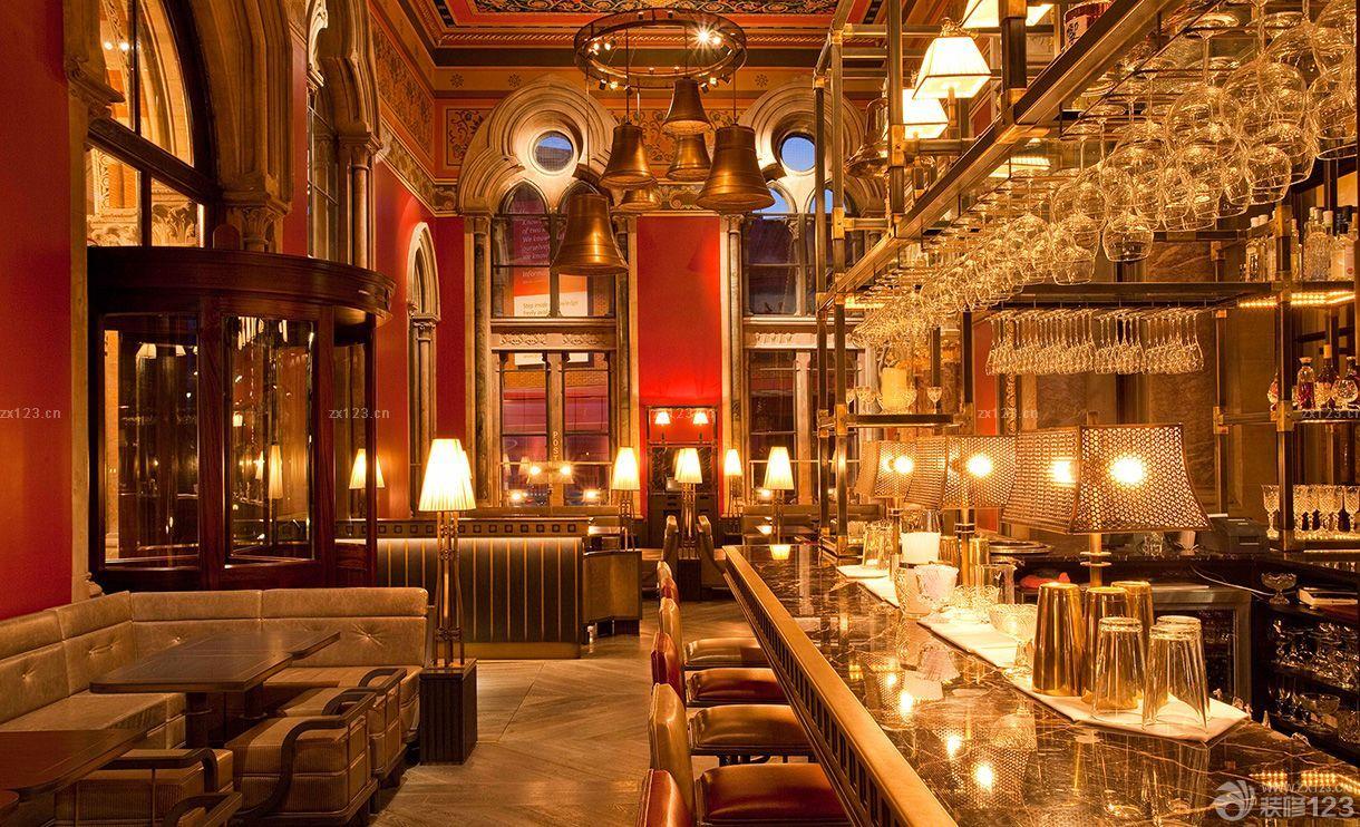 欧式风格酒吧灯光设计装修图片