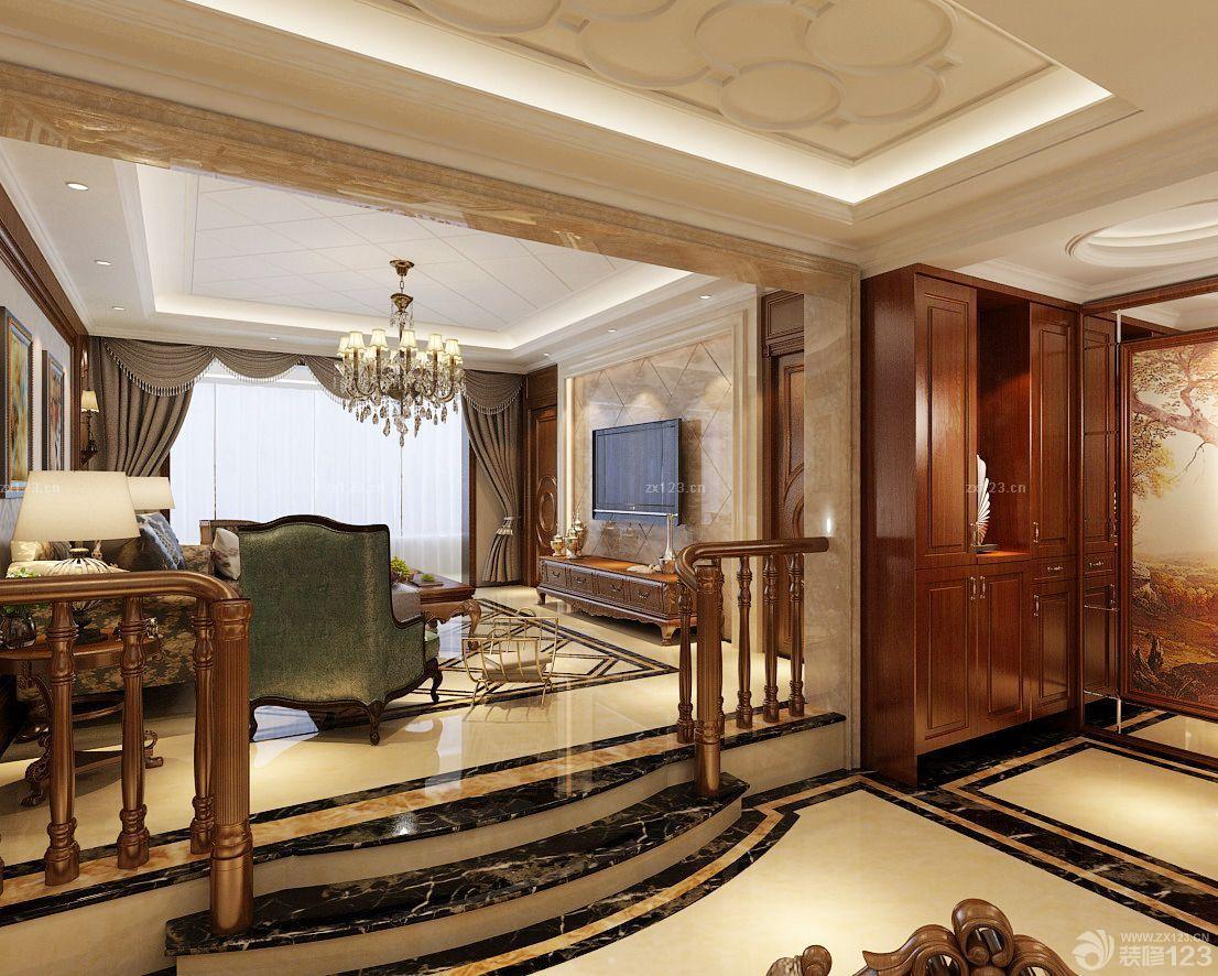 错层式住宅客厅装修_设计456装修效果图