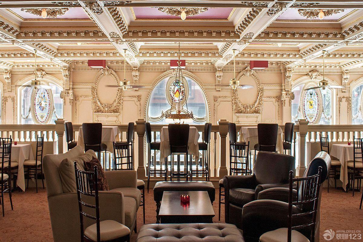 古典欧式风格经典酒吧装修图