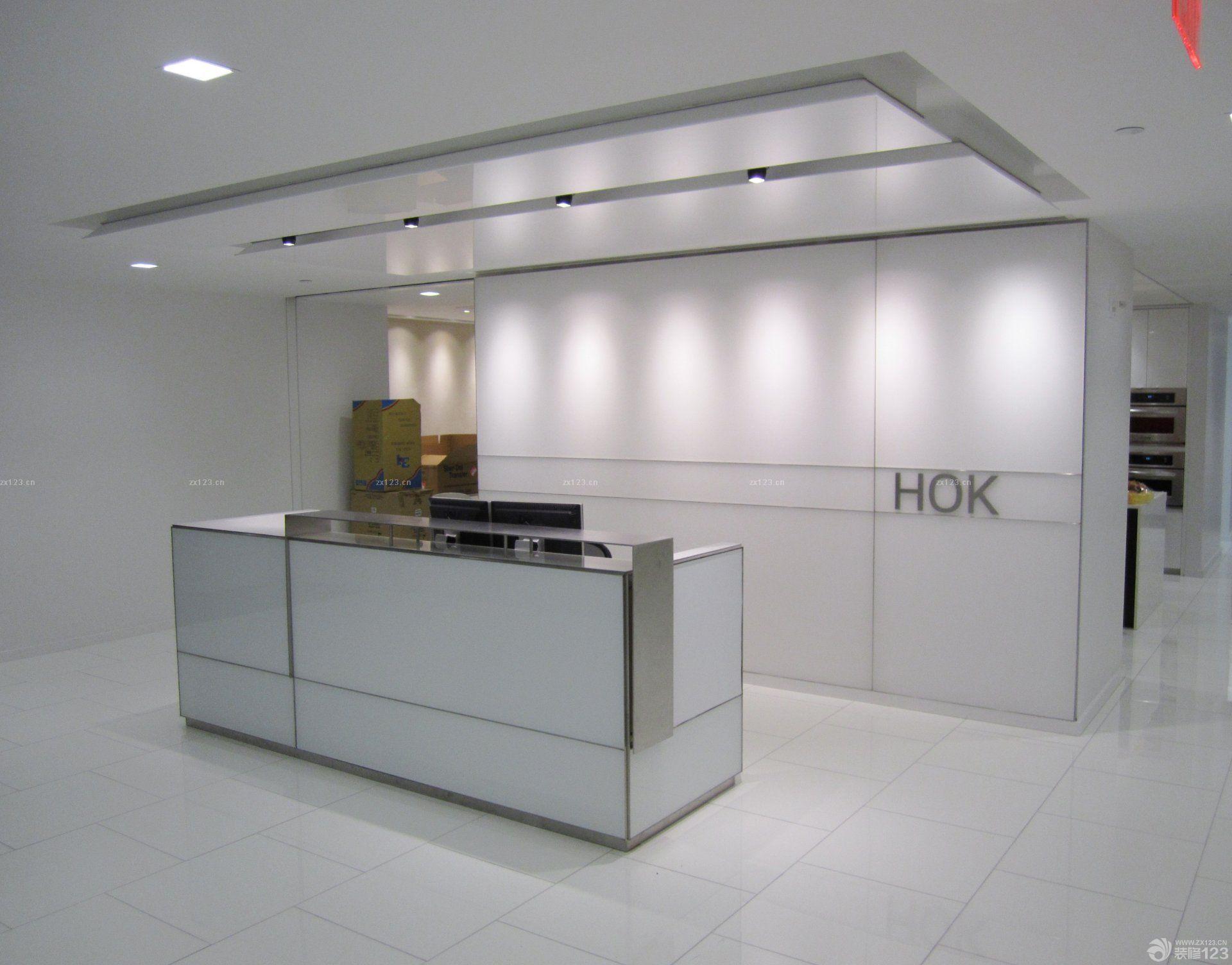 大公司前台背景墙简约装修设计